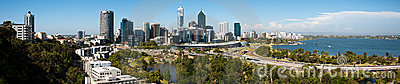 Perth city panorama Editorial Image