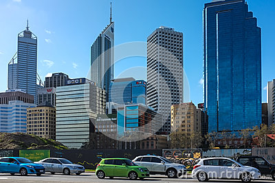 Perth City Scape Editorial Stock Image