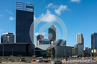 Perth City Scape Editorial Image