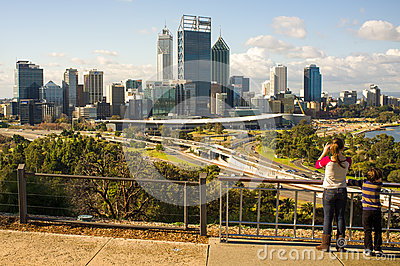Perth City Skyline Editorial Image