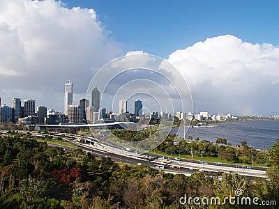 Perth City Waterfront Skyline