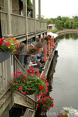 On the Rideau Canal, Perth Ontario Canada Editorial Photography