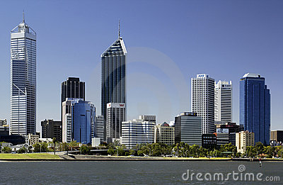 Perth Skyline - Australia Editorial Photo