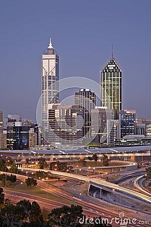 Perth Skyline Western Australia at Dusk