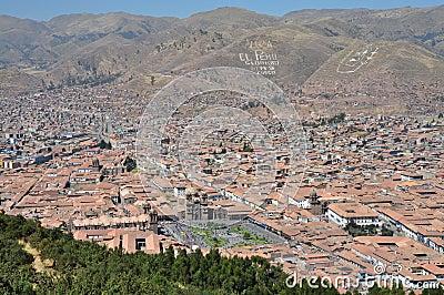 Peru - Aerial view of Cuzco