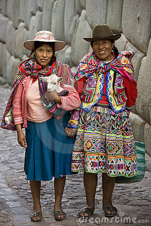 Peru- Cuzco - Hatumrumiyoc - Local Women  Editorial Photography