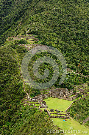 Peru, Inca Ruins Of Choquequirau Near Cuzco Royalty Free Stock Image - Image: 25748426