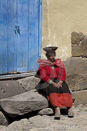 Peru - Local woman  Editorial Photography