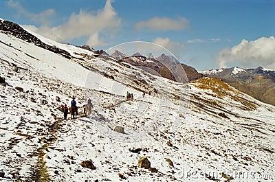 Peru mountain crossing