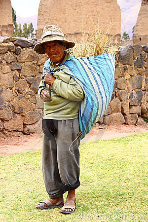 Peru native man in a village Editorial Stock Image