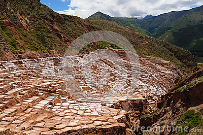 Peru, Sacred Valley, Salt mine in Maras