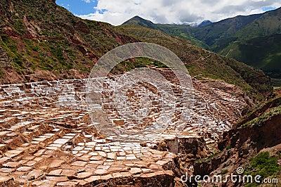 Peru, Sacred Valley, Salt mine in Maras