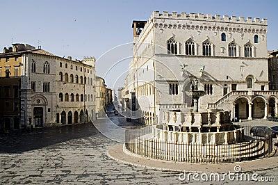 Perugia Main Square, Italy.