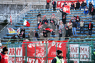 Perugia supporters Editorial Stock Image