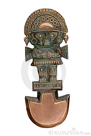 Peruvian ancient ceremonial Knive