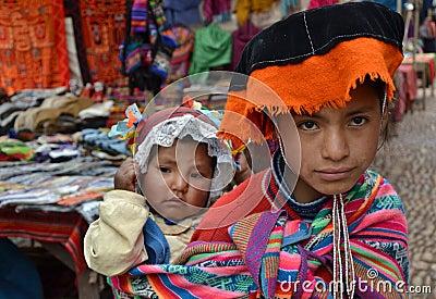 Peruvian Children in Traditional Dress