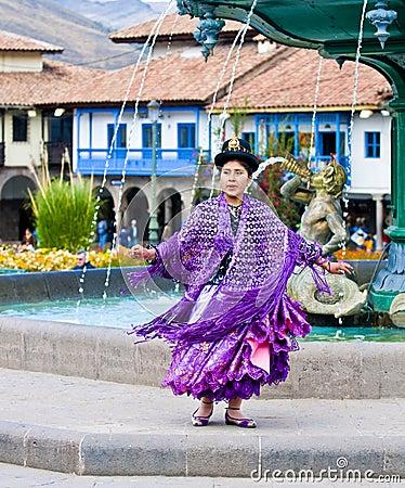 Peruvian dancer Editorial Photo