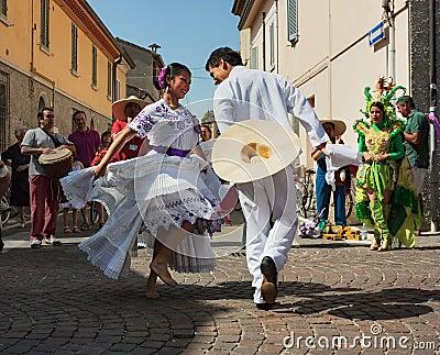 Peruvian dancers Editorial Stock Photo