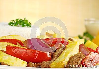 Peruvian Dish Called Lomo Saltado