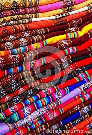 Peruvian fabric background