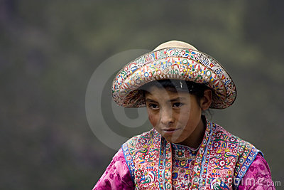 Peruvian Girl Editorial Stock Image