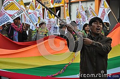 Peruvian local elections 2010 Editorial Stock Photo
