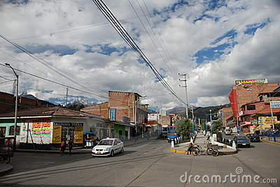 The Peruvian village of Huaraz Editorial Image