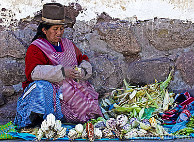 Peruvian woman Editorial Stock Photo