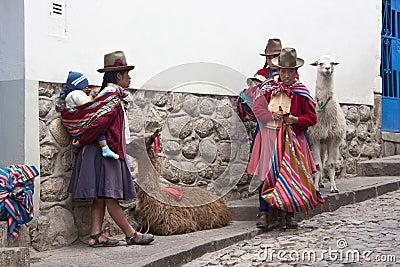Peruvian women in Cuzco - Peru Editorial Photo