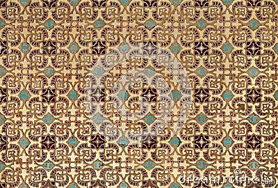 Perzische tegels met oud islamitisch patroon stock foto 39 s afbeelding 34177953 - Oude patroon tegel ...