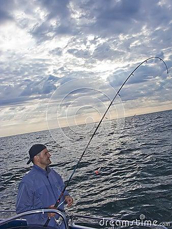 Pesca de mar do barco