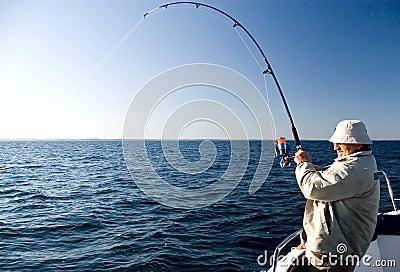 Pesca en mar.
