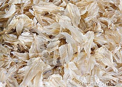 Pescados secados asiáticos del ingrediente alimentario