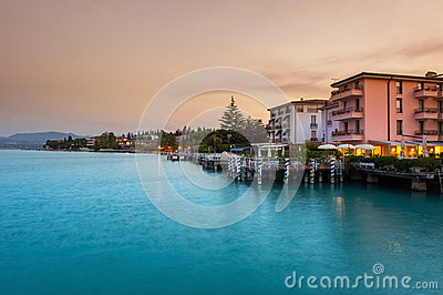 Peschiera del Garda Editorial Stock Photo