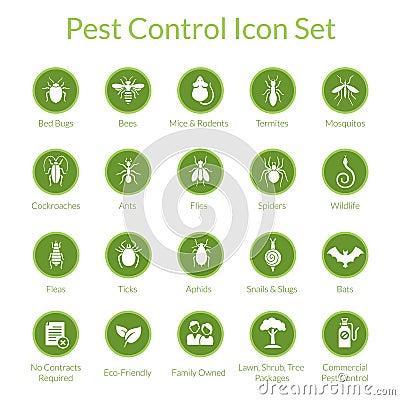 Free Pest Control Icon Set Royalty Free Stock Photo - 59106345