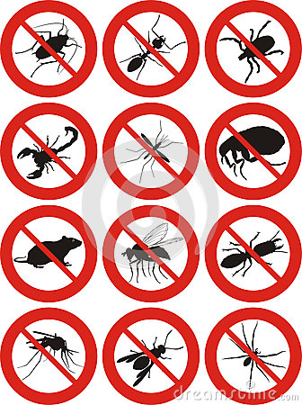 Free Pest Control - Warning Sign Royalty Free Stock Photos - 40851598