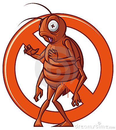 Bug Exterminator Cartoon Pest extermination sign