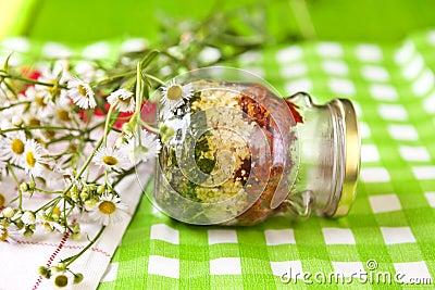 Pesto Tricolore Stock Photo