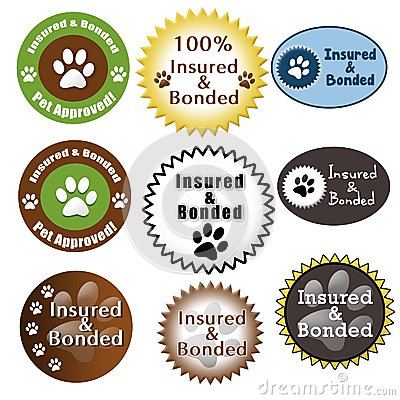 Pet Care Insured and Bonded Seals