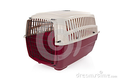 Pet carrier  on a white background