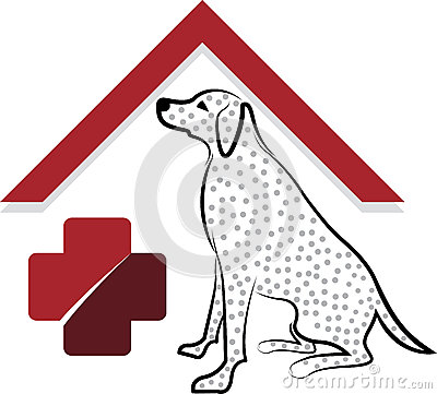 Pet dog care logo