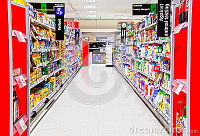 Pet food grocery supermarket Editorial Photo