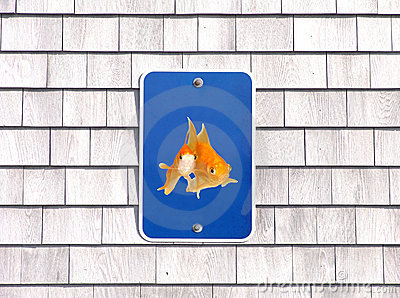 Pet only parking sign humor goldfishes