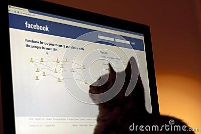 Pet Profile on Facebook Editorial Image