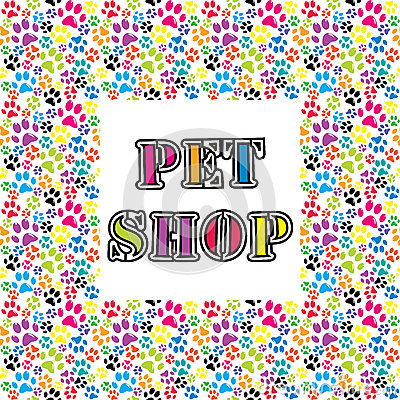 Pet shop background Vector Illustration