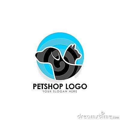 Free Pet Shop Logo Design Template. Pet Home Logo Design Vector Icon Stock Image - 128771011