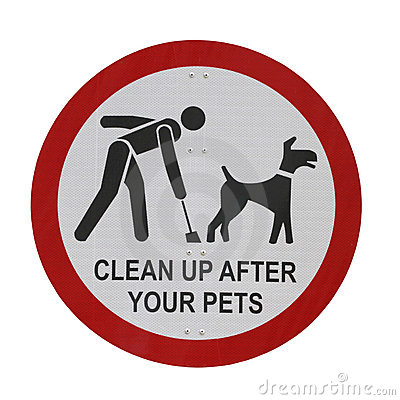 Pet Sign Isolated