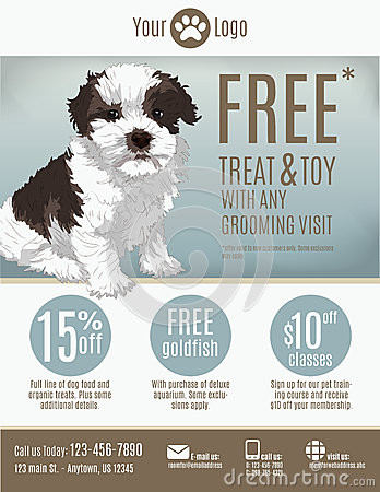 Pet store flyer template stock vector image 47823848 for Puppy for sale flyer templates