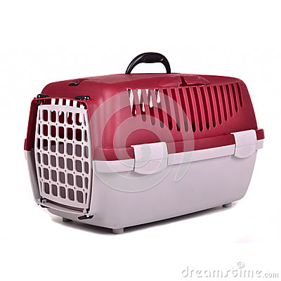 Free Pet Travel Plastic Cage Stock Photos - 24770623