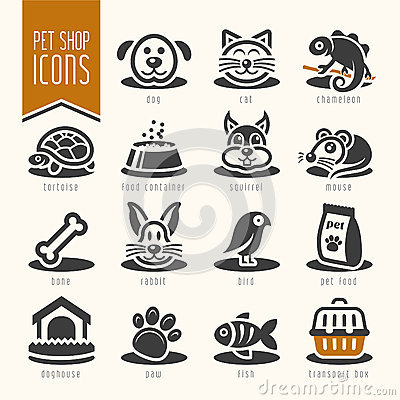 Free Pet, Vet, Pet Shop Icon Set Royalty Free Stock Photo - 46510035